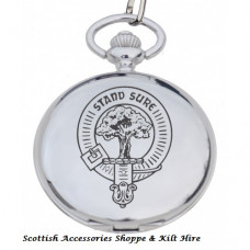 Clan Crest Engraved Pocket Watch