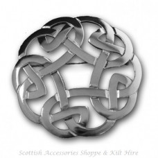 Celtic Interlace Plaid Brooch Antiqued