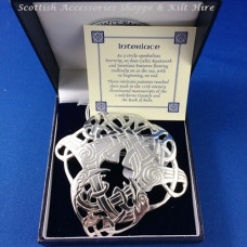 Pewter Celtic Plaid Brooch