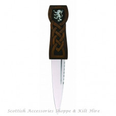 Celtic Sgian Dubh with Lion Badge