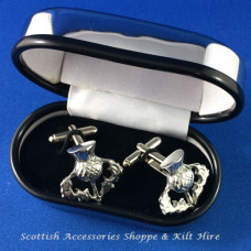 Pewter Cufflinks Thistle Design