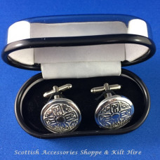 Pewter Cufflinks Celtic Cross Design