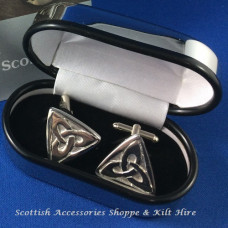 Pewter Cufflinks Celtic Triquatra Design