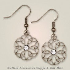 Cathedral Window Earrings with Stone