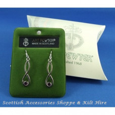 Celtic Drop Earrings with Stone