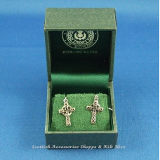 Celtic Cross Drop Earrings