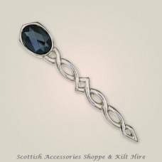 Argyll Interlace Kilt Pin with Stone