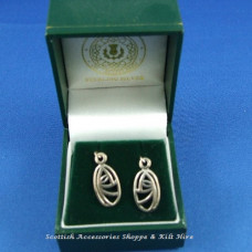 Charles Rennie Mackintosh Glasgow Rose Drop Earrings