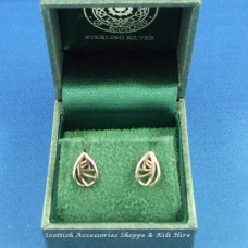 Charles Rennie Mackintosh Glasgow Rose Stud Earrings
