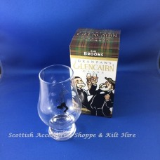 Glencairn Crystal Whisky Glass - Paw Broon 'friendship is like a guid dram the older the better'