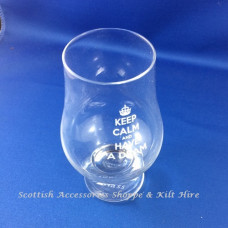 Glencairn Crystal Whisky Glass - 'Keep calm and have a dram'