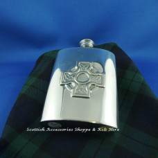 Hip Flask  Celtic Cross