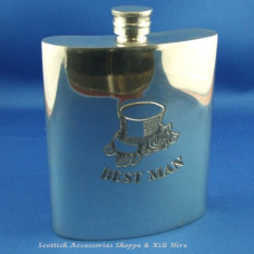 Best Man Pewter Flask