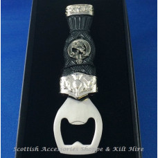 Sgian Dubh Plain Top Thistle with Clan Crest Bottle Opener