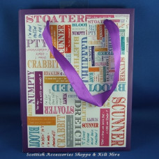 Scots Words Paper Gift Bag