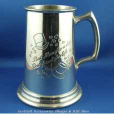 Best Man Tankard I Pint Heavy Gauge
