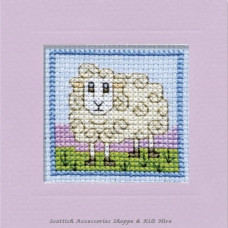 Miniature Card Wee Woolly Sheep