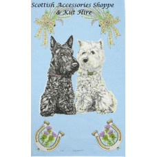 Scottie & Westie Tea Towel