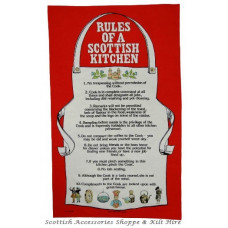 Rules f a Scottish Kitchen Tea Towel