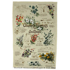 Scottish Country Flowers Tea Towel