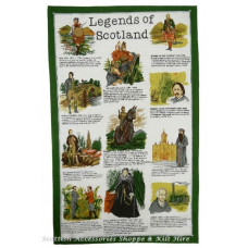 Legends of Scotland Tea Towel