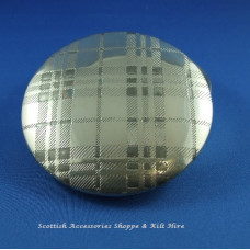 Pewter Trinket Box Tartan Design