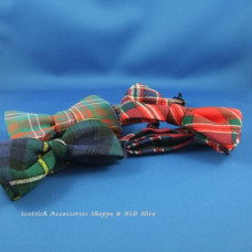 Tartan Bow Ties Wing Collar